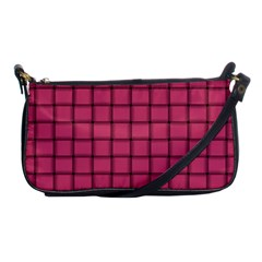Dark Pink Weave Evening Bag by BestCustomGiftsForYou