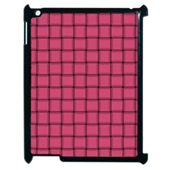 Dark Pink Weave Apple Ipad 2 Case (black) by BestCustomGiftsForYou