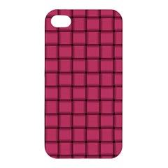 Dark Pink Weave Apple Iphone 4/4s Hardshell Case by BestCustomGiftsForYou