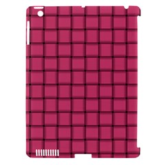 Dark Pink Weave Apple Ipad 3/4 Hardshell Case (compatible With Smart Cover) by BestCustomGiftsForYou