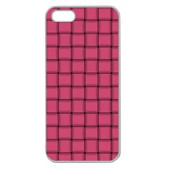 Dark Pink Weave Apple Seamless Iphone 5 Case (clear) by BestCustomGiftsForYou