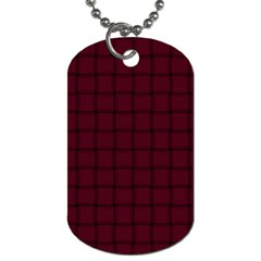 Dark Scarlet Weave Dog Tag (two Sided)  by BestCustomGiftsForYou