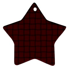Dark Scarlet Weave Star Ornament (two Sides) by BestCustomGiftsForYou