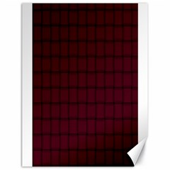 Dark Scarlet Weave Canvas 18  X 24  (unframed)