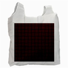 Dark Scarlet Weave Recycle Bag (two Sides) by BestCustomGiftsForYou