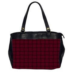 Dark Scarlet Weave Oversize Office Handbag (Two Sides)