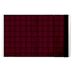 Dark Scarlet Weave Apple Ipad 3/4 Flip Case by BestCustomGiftsForYou