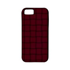 Dark Scarlet Weave Apple Iphone 5 Classic Hardshell Case (pc+silicone) by BestCustomGiftsForYou