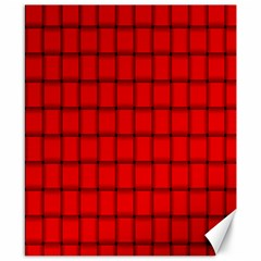 Red Weave Canvas 8  X 10  (unframed) by BestCustomGiftsForYou