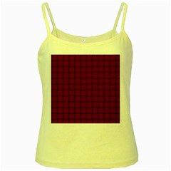 Burgundy Weave Yellow Spaghetti Tank by BestCustomGiftsForYou