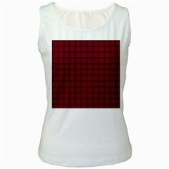 Burgundy Weave Womens  Tank Top (white)