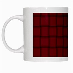 Burgundy Weave White Coffee Mug by BestCustomGiftsForYou