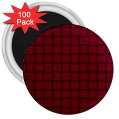 Burgundy Weave 3  Button Magnet (100 Pack) by BestCustomGiftsForYou