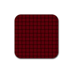 Burgundy Weave Drink Coaster (square) by BestCustomGiftsForYou