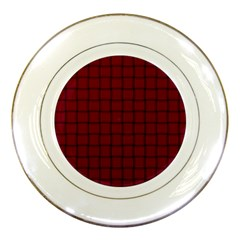 Burgundy Weave Porcelain Display Plate by BestCustomGiftsForYou