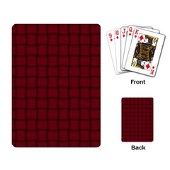 Burgundy Weave Playing Cards Single Design