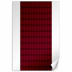 Burgundy Weave Canvas 20  X 30  (unframed) by BestCustomGiftsForYou