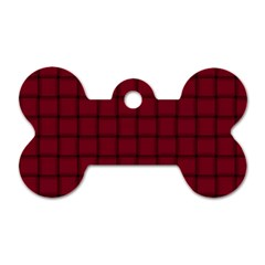 Burgundy Weave Dog Tag Bone (two Sided) by BestCustomGiftsForYou