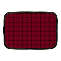 Burgundy Weave Netbook Case (medium)