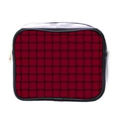 Burgundy Weave Mini Travel Toiletry Bag (one Side) by BestCustomGiftsForYou