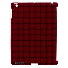 Burgundy Weave Apple Ipad 3/4 Hardshell Case (compatible With Smart Cover) by BestCustomGiftsForYou