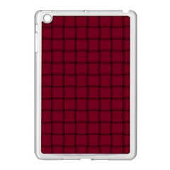 Burgundy Weave Apple Ipad Mini Case (white) by BestCustomGiftsForYou