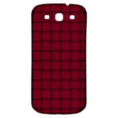 Burgundy Weave Samsung Galaxy S3 S Iii Classic Hardshell Back Case by BestCustomGiftsForYou