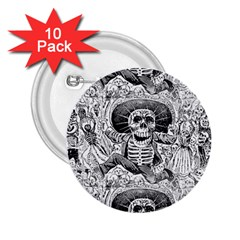 Calavera Oaxaquea By José Guadalupe Posada 1903 2.25  Button (10 pack) by EndlessVintage
