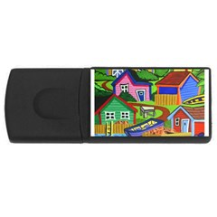 Three Boats & A Fish Table 4gb Usb Flash Drive (rectangle) by reillysart