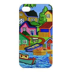Three Boats & A Fish Table Apple Iphone 4/4s Premium Hardshell Case by reillysart