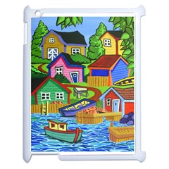 Three Boats & A Fish Table Apple Ipad 2 Case (white) by reillysart