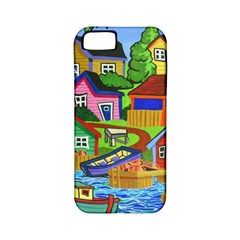 Three Boats & A Fish Table Apple Iphone 5 Classic Hardshell Case (pc+silicone) by reillysart