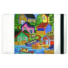 Three Boats & A Fish Table Apple Ipad 3/4 Flip Case by reillysart