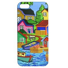 Three Boats & A Fish Table Apple Iphone 5 Hardshell Case With Stand by reillysart