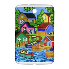 Three Boats & A Fish Table Samsung Galaxy Note 8 0 N5100 Hardshell Case  by reillysart