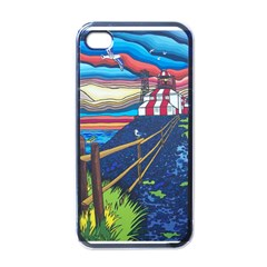 Cape Bonavista Lighthouse Apple Iphone 4 Case (black) by reillysart