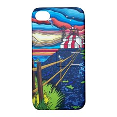 Cape Bonavista Lighthouse Apple Iphone 4/4s Hardshell Case With Stand by reillysart