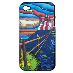 Cape Bonavista Lighthouse Apple Iphone 4/4s Hardshell Case (pc+silicone) by reillysart