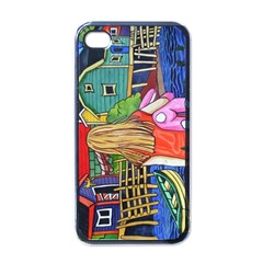 Blue Door And Stuffed Bunny Apple Iphone 4 Case (black) by reillysart