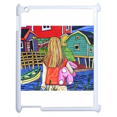 Blue Door And Stuffed Bunny Apple Ipad 2 Case (white) by reillysart