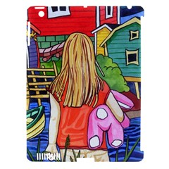 Blue Door And Stuffed Bunny Apple Ipad 3/4 Hardshell Case (compatible With Smart Cover) by reillysart
