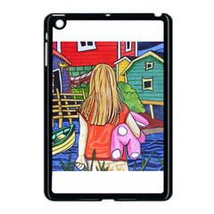 Blue Door And Stuffed Bunny Apple Ipad Mini Case (black) by reillysart