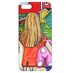 Blue Door And Stuffed Bunny Apple Iphone 5 Hardshell Case With Stand