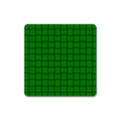 Green Weave Magnet (square)