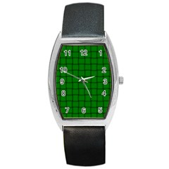 Green Weave Tonneau Leather Watch