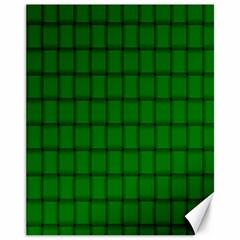 Green Weave Canvas 11  x 14  9 (Unframed) by BestCustomGiftsForYou