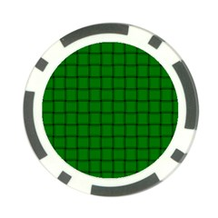 Green Weave Poker Chip by BestCustomGiftsForYou