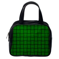 Green Weave Classic Handbag (one Side) by BestCustomGiftsForYou