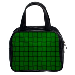 Green Weave Classic Handbag (two Sides) by BestCustomGiftsForYou
