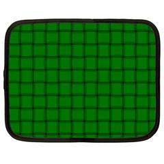 Green Weave Netbook Case (xl) by BestCustomGiftsForYou